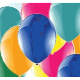 Assorted Balloons (12 Pack) With Ribbon
