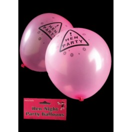 Hens Night  Latex Balloons (8pk)