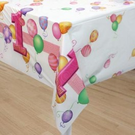 1st Birthday Girl Table Cover