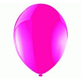 Hot Pink Balloons (12 Pack) With Ribbon