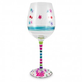 18th Birthday glass with Charm