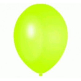 Lime Green Balloons (12 Pack) With Ribbon