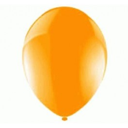 Orange Balloons (12 Pack) With Ribbon