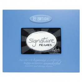 18th Signature Frame Blue