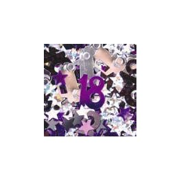 '18' Scatters Purple & Silver