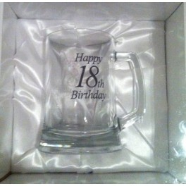 18th Beer Stien (White Satin Boxed)