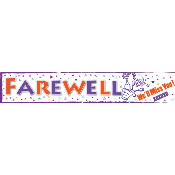 Farewell banner owl birthday party printable banner my for Farewell banner template