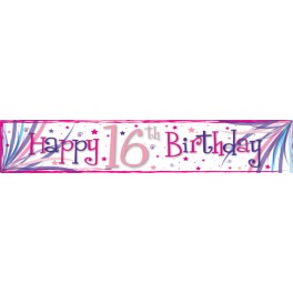 16th Birthday Big Banner Pink