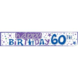 60th Birthday Big Banner