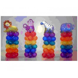 Mini Zoo  Balloon Column