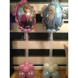 Frozen Supa Shpe  Foil  Balloon Table centerpiece