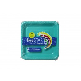Classic Turquoise Snack Plates 20pk
