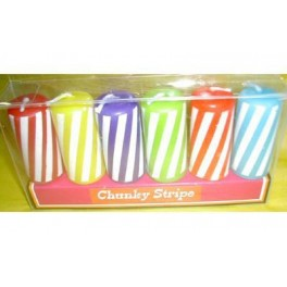 Chunky Stripe  Candles