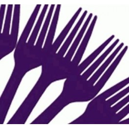 Purple Forks (25 Pack)