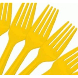 Yellow Forks (25 Pack)
