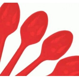 Red Spoons (25 Pack)