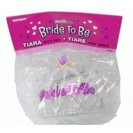 Bride To Be Veiled Tiara