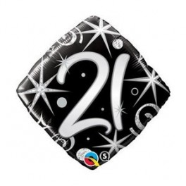 "21st Black Diamond  (18"" Foil Inflated)"