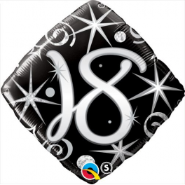 "18th Black Diamond  (18"" Foil Inflated)"
