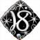 """18th Black Diamond  (18"""" Foil Inflated)"""