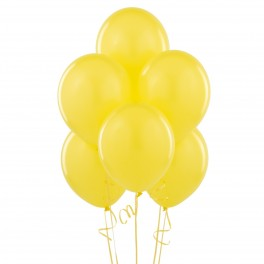 Yellow Balloons (12 Pack) With Ribbon