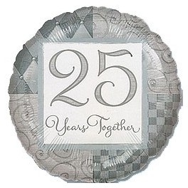 "25th Anniversary 18"" Foil Balloons"