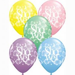 Baby Shower Print Balloon Latex (Inflated)