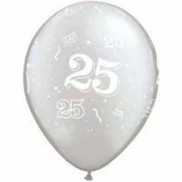 25th Anniversary Print Balloon Latex(Inflated)